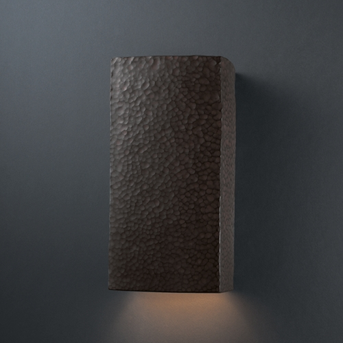 Justice Design Group Outdoor Wall Light in Hammered Iron Finish CER-5950W-HMIR