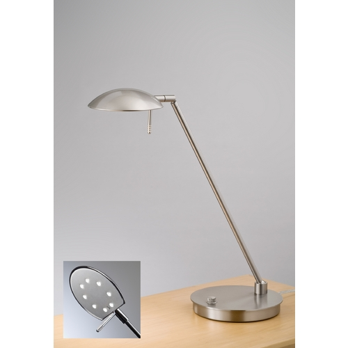 Holtkoetter Lighting Holtkoetter Modern LED Table Lamp in Satin Nickel Finish 6477LED SN