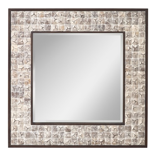 Feiss Lighting Square 40.88-Inch Mirror MR1214WWHC