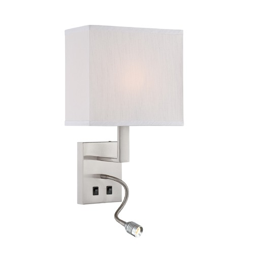 Lite Source Lighting Lite Source Columbo Polished Steel Wall Lamp LS-16979