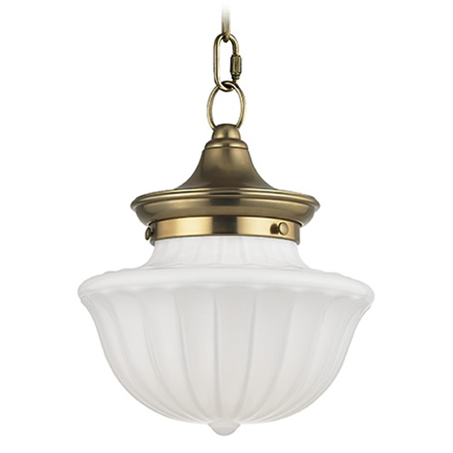 Hudson Valley Lighting Dutchess: Dutchess 1 Light Mini-Pendant Light - Aged Brass