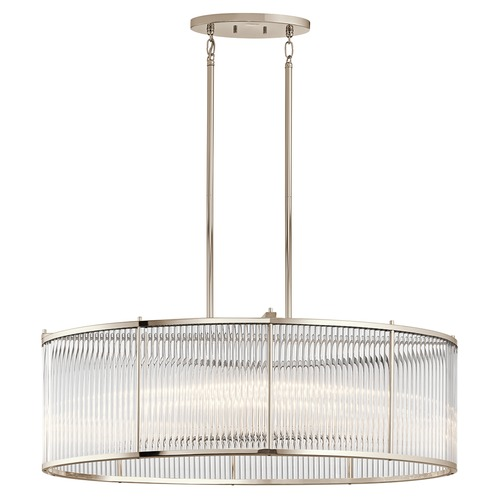 Kichler Lighting Kichler Lighting Artina Polished Nickel Island Light with Oval Shade 43864PN