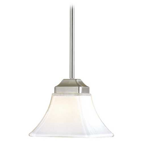 Minka Lavery Mini-Pendant Light with White Glass 1811-84