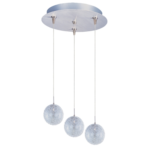 ET2 Lighting Modern Low Voltage Multi-Light Pendant Light with Clear Glass and 3-Lights E94617-78SN