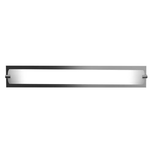 Access Lighting Modern Bathroom Light with White Glass in Chrome Finish 31010-CH/OPL