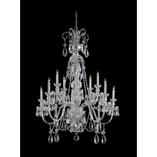 Crystorama Lighting Crystal Chandelier in Polished Chrome Finish 5020-CH-CL-MWP