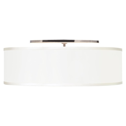 Tech Lighting 20-inch Drum Fabric Flushmount Ceiling Light 700TDMULFMLWS