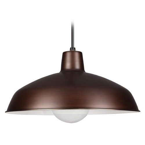 Sea Gull Lighting Sea Gull Lighting Painted Shade Pendants Antique Brushed Copper Pendant Light 6519-63
