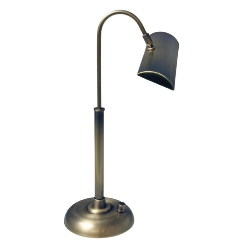 House of Troy Lighting House Of Troy Zenith Antique Brass LED Piano / Banker Lamp PZLEDZ100-71