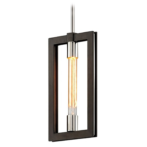 Troy Lighting Troy Lighting Enigma Bronze with Polished Stainless Mini-Pendant Light F6183