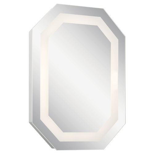 Elan Lighting Alvor LED Illuminated Mirror with Steel Accents 3000K 500LM 86002