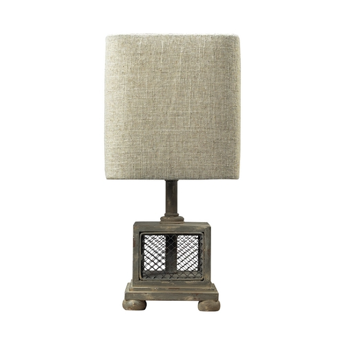 Dimond Lighting Table Lamp with Grey Shade in Montauk Grey Finish 93-9150