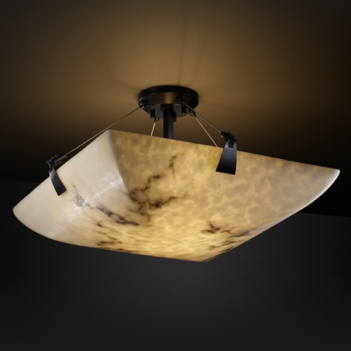 Justice Design Group Justice Design Group Lumenaria Collection Semi-Flushmount Light FAL-9631-25-MBLK