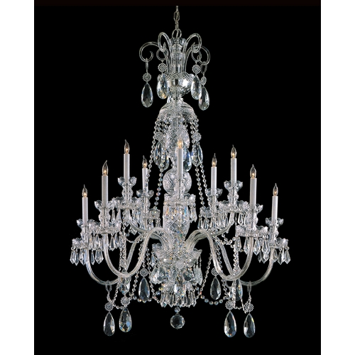 Crystorama Lighting Crystal Chandelier in Polished Chrome Finish 5020-CH-CL-S