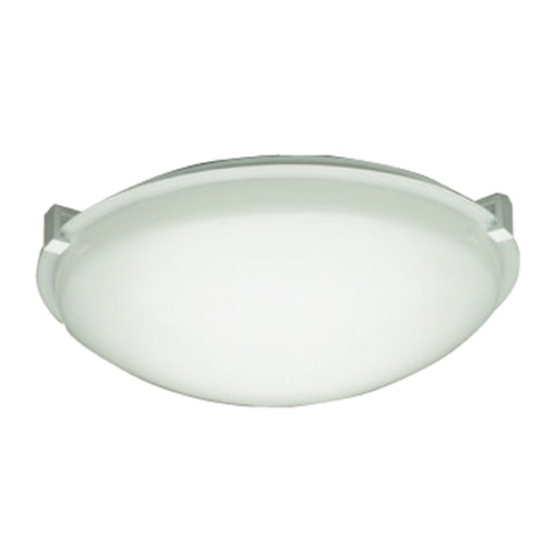 PLC Lighting Modern Flushmount Light with White Glass in White Finish 3453 WH