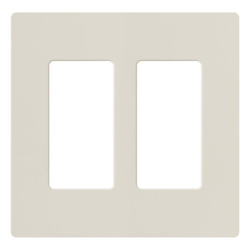 Lutron Dimmer Controls Lutron Light Almond Switch Plate Cover CW-2-LA