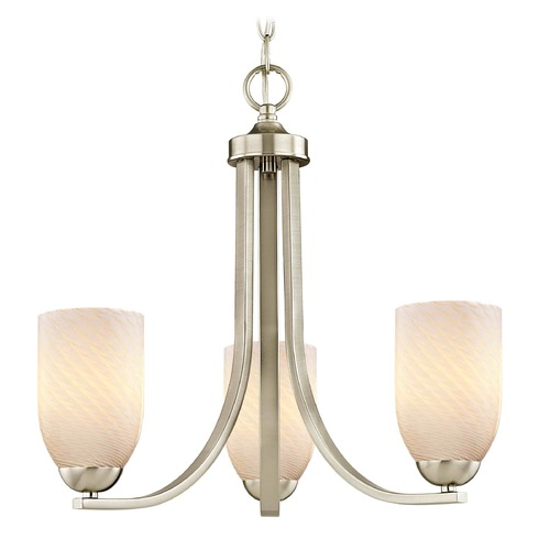 Design Classics Lighting Design Classics Dalton Fuse Satin Nickel Mini-Chandelier 5843-09 GL1020D