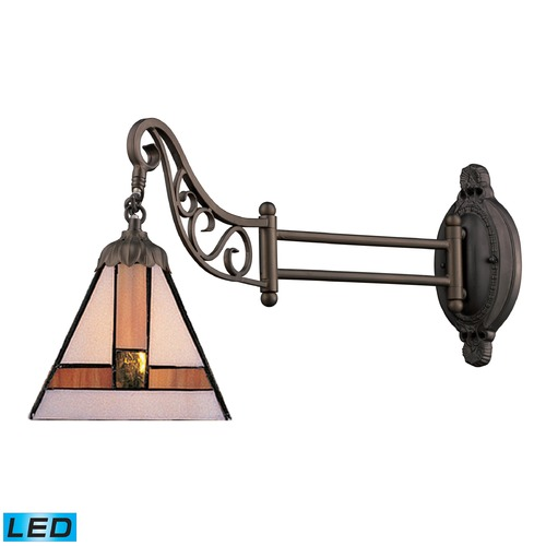 Elk Lighting Elk Lighting Mix-N-Match Tiffany Bronze LED Swing Arm Lamp 079-TB-01-LED