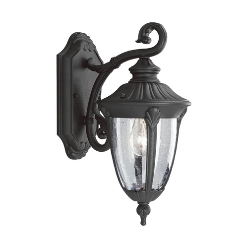 Progress Lighting Progress Outdoor Wall Light with Clear Glass in Textured Black Finish P5820-31