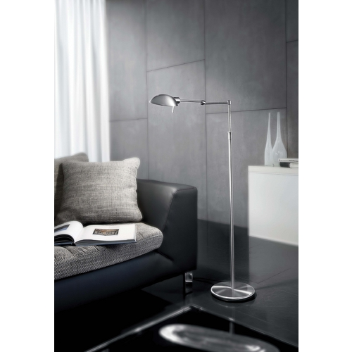 Holtkoetter Lighting Holtkoetter Modern Swing Arm Lamp in Satin Nickel Finish 2508P1 SN