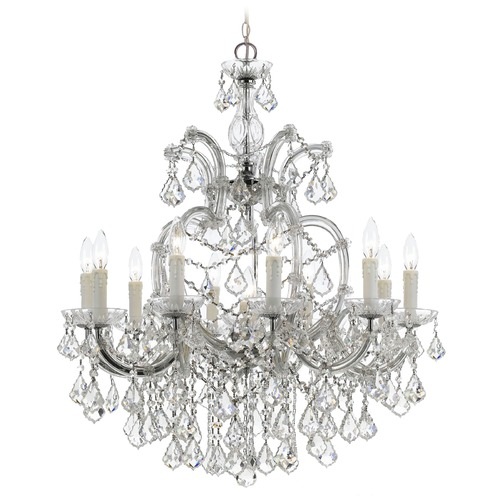 Crystorama Lighting Crystorama Maria Theresa 11-Light Crystal Chandelier in Polished Chrome 4438-CH-CL-S