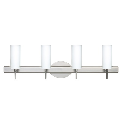 Besa Lighting Besa Lighting Copa Satin Nickel Bathroom Light 4SW-440307-SN