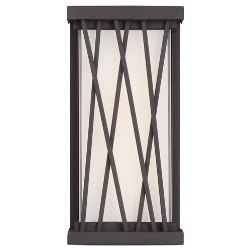 George Kovacs Lighting George Kovacs Hedge Textured Dorian Bronze LED Sconce P1208-615C-L
