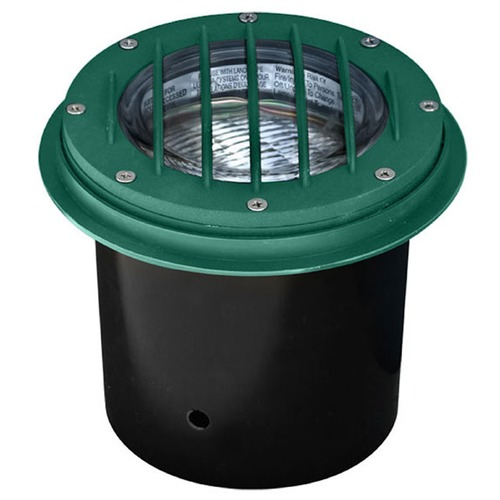 Dabmar Lighting Green Cast Aluminum In-Ground Well Light with Grill LV305-G-SLV