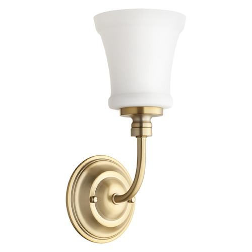 Quorum Lighting Quorum Lighting Rossington Aged Brass Sconce 5522-1-80