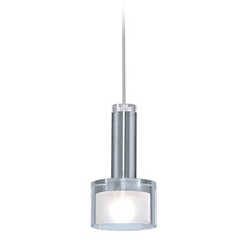 Eglo Lighting Eglo Fabiana Chrome Mini-Pendant Light with Drum Shade 90574A