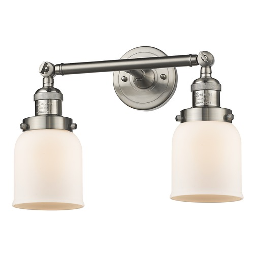 Innovations Lighting Innovations Lighting Small Bell Brushed Satin Nickel Bathroom Light 208-SN-G51