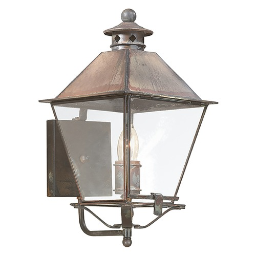 Troy Lighting Outdoor Wall Light with Clear Glass in Natural Rust Finish B9131NR