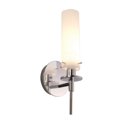 Sonneman Lighting Modern Sconce Wall Light with White Glass in Polished Chrome Finish 3031.01