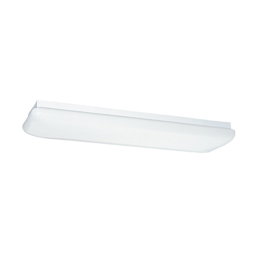 Sea Gull Lighting Modern Flushmount Light with White in White Finish 59270LE-15