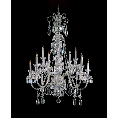 Crystorama Lighting Crystal Chandelier in Polished Chrome Finish 5020-CH-CL-SAQ