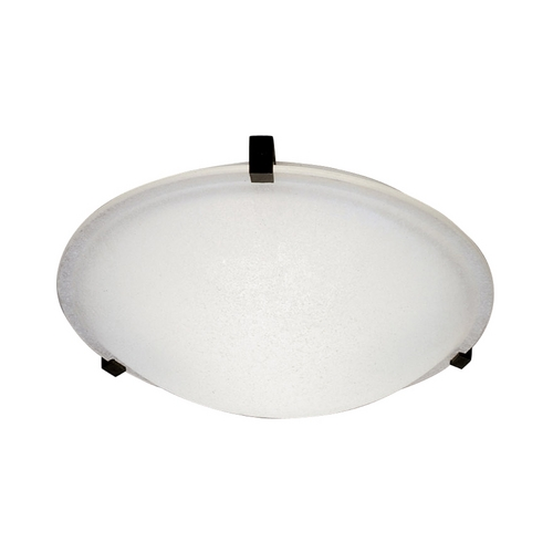 PLC Lighting Modern Flushmount Light with White Glass in Rust Finish 3453  RU