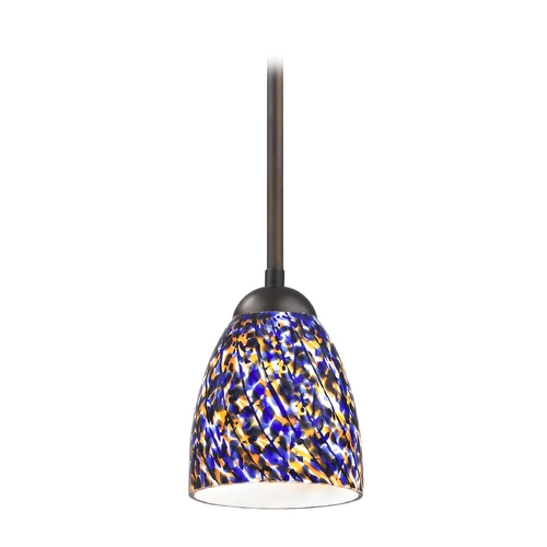 Design Classics Lighting Modern Mini-Pendant Light 581-220 GL1009MB