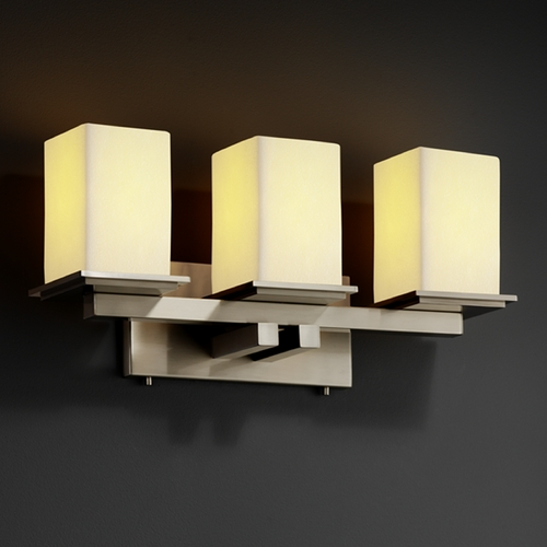 Justice Design Group Justice Design Group Candlearia Collection Bathroom Light CNDL-8673-15-CREM-NCKL