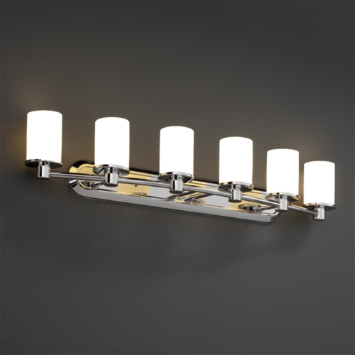 Justice Design Group Justice Design Group Fusion Collection Bathroom Light FSN-8516-10-OPAL-CROM