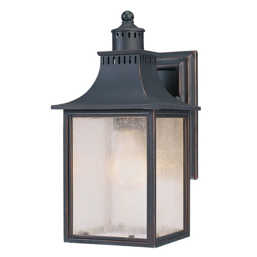 Savoy House Pale Cream Seeded Glass Outdoor Wall Light Black Savoy House 5-254-25