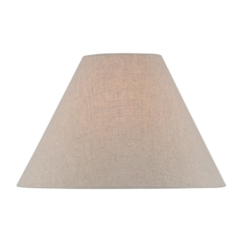 Lite Source Lighting Beige Empire Lamp Shade with Spider Assembly CH1255-18