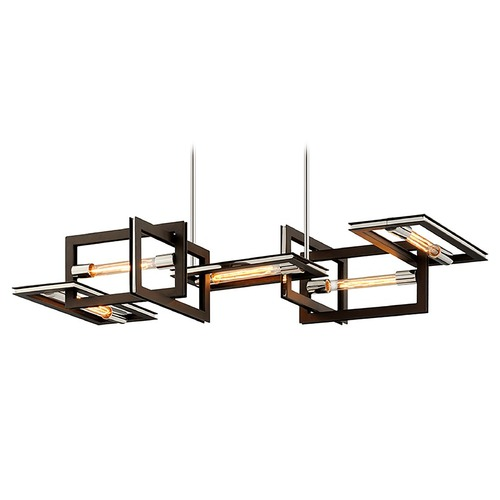 Troy Lighting Troy Lighting Enigma Bronze with Polished Stainless Island Light F6185