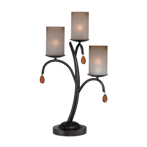 Lite Source Lighting Lite Source Lighting Ainsley Bronze Table Lamp with Cylindrical Shade C41223