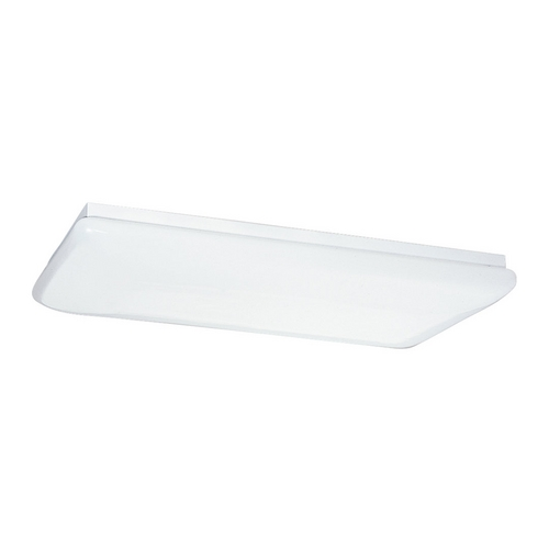 Sea Gull Lighting Modern Flushmount Light with White in White Finish 59271LE-15