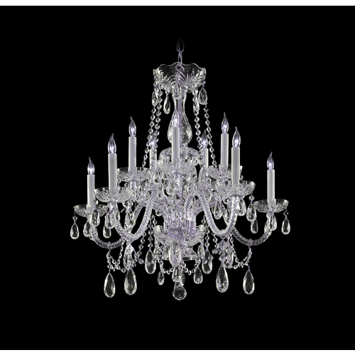 Crystorama Lighting Crystal Chandelier in Polished Chrome Finish 1130-CH-CL-S