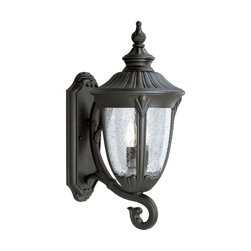 Progress Lighting Seeded Glass Outdoor Wall Light Black Progress Lighting P5823-31