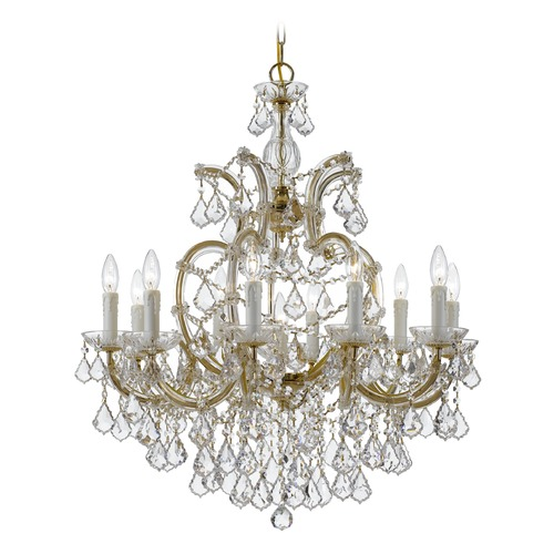 Crystorama Lighting Crystorama Lighting Maria Theresa Gold Crystal Chandelier 4438-GD-CL-MWP