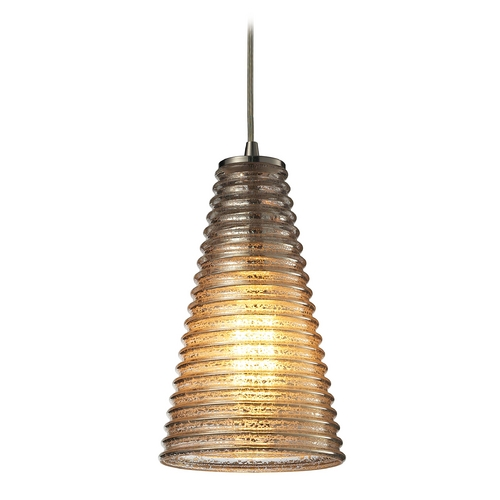 Elk Lighting Modern Mini-Pendant Light with Grey Glass 10333/1