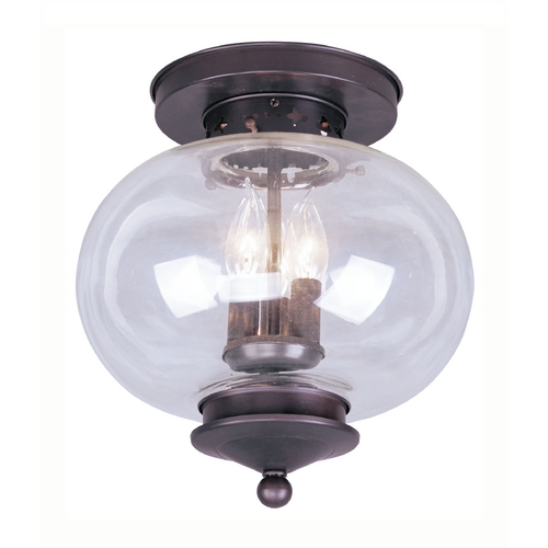 Livex Lighting Livex Lighting Harbor Bronze Close To Ceiling Light 5033-07