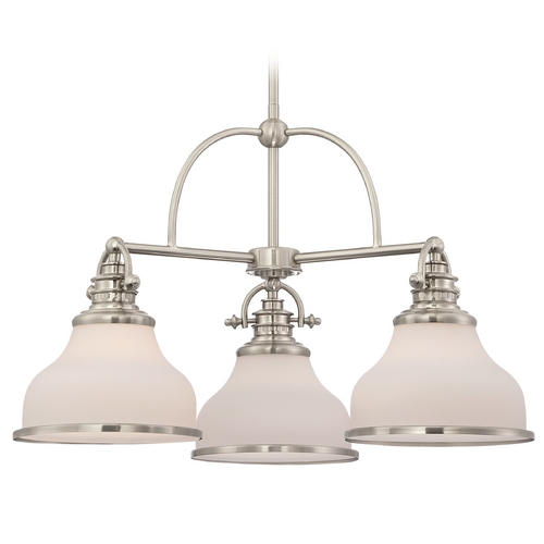 Quoizel Lighting Farmhouse Chandelier Brushed Nickel Grant by Quoizel Lighting GRT5103BN